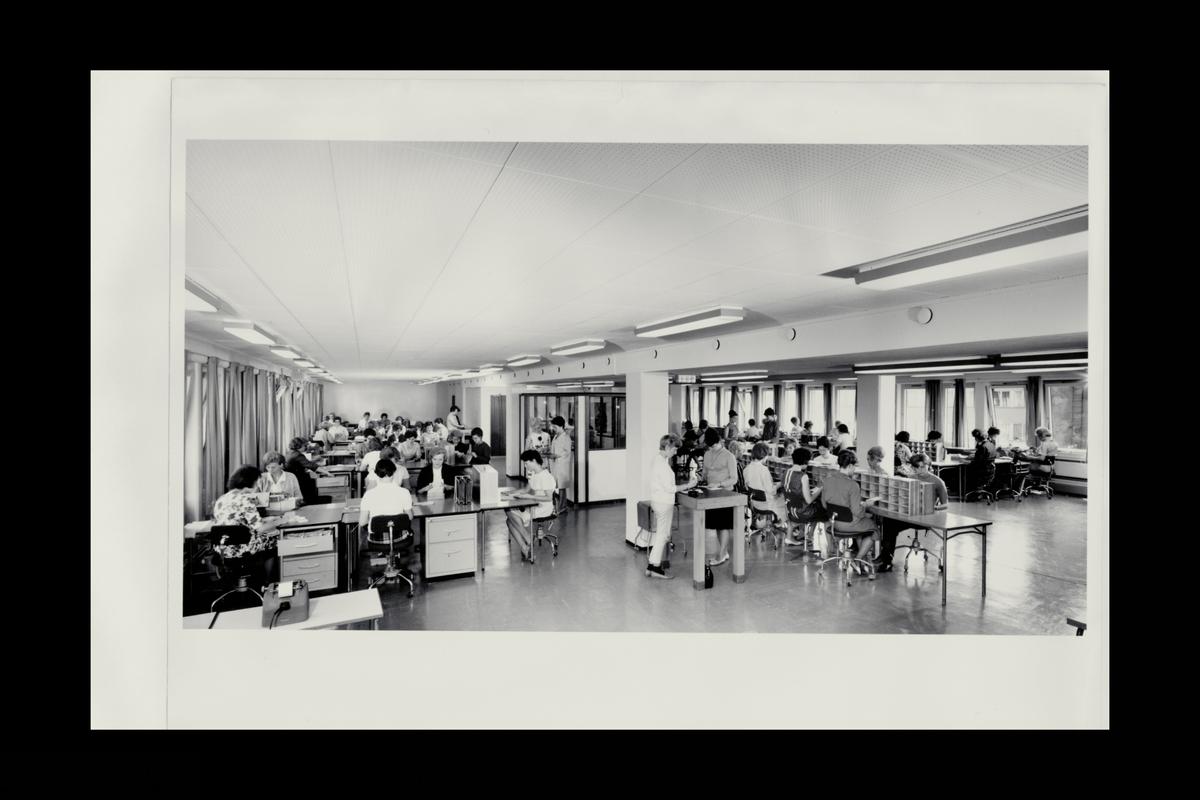 interiør, postgirokontoret,  Grønlandsleiret 27-29, bokføringsentral, personale