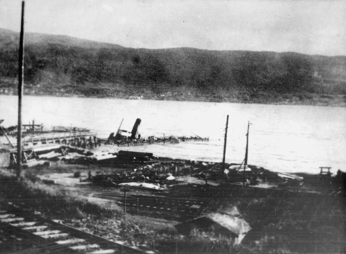 krigen, Narvik havn, eksteriør