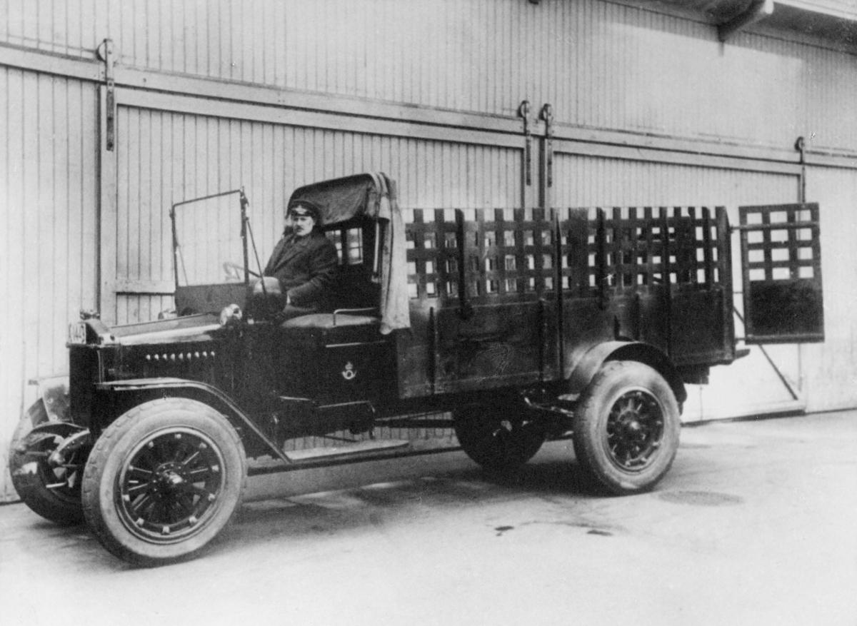 transport, bil, første postbil, Denby, Oslo, 1918