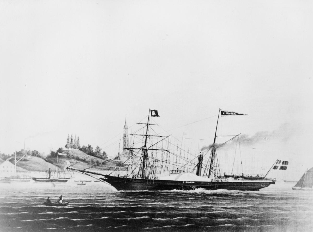 transport båt, eksteriør, D.s Nidelven N.F.D.S.