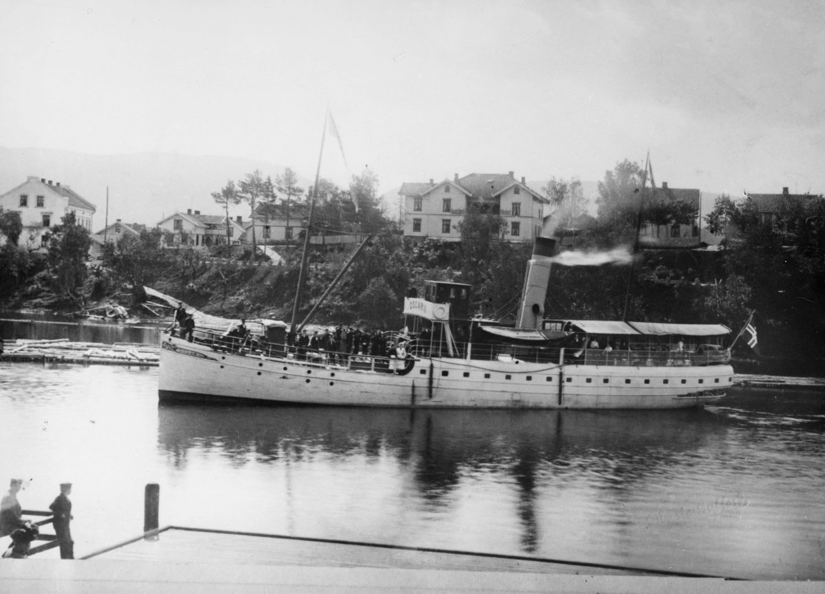 transport båt, eksteriør, D.s Oscar II, Randsfjorden