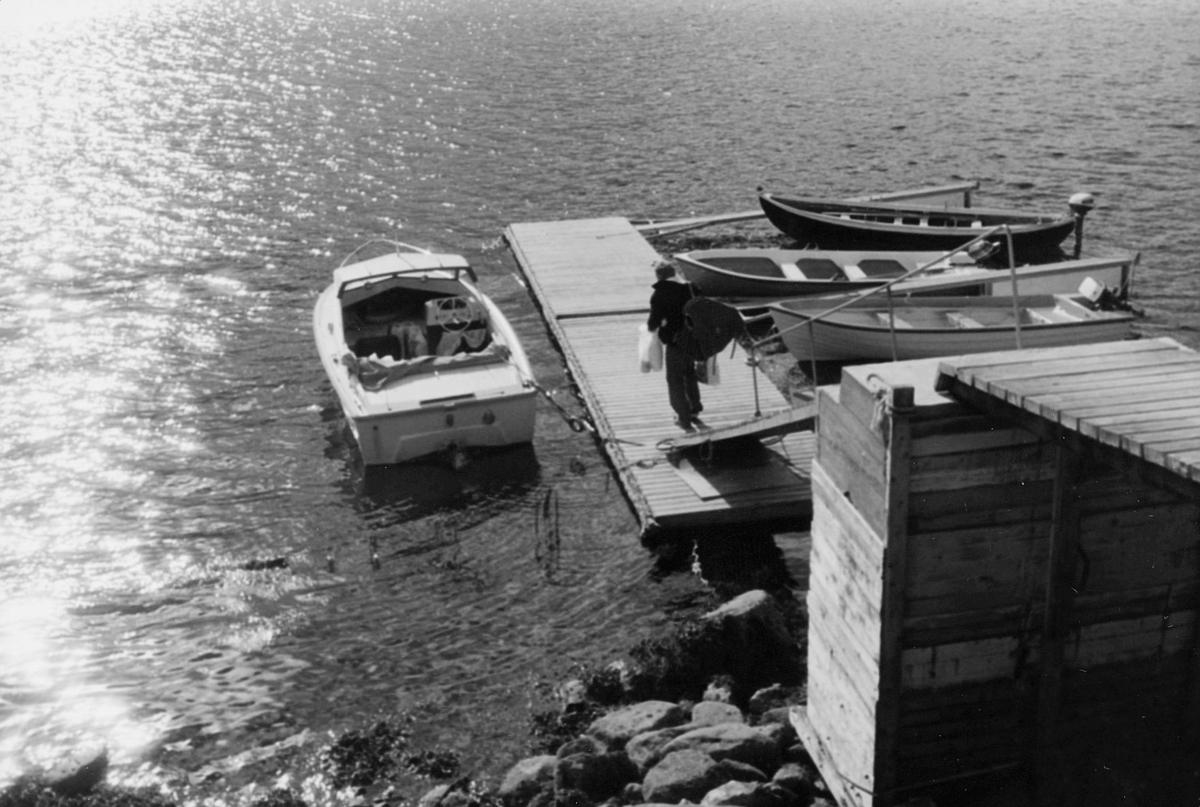 omdeling, postmann, båt, 7. postdistrikt