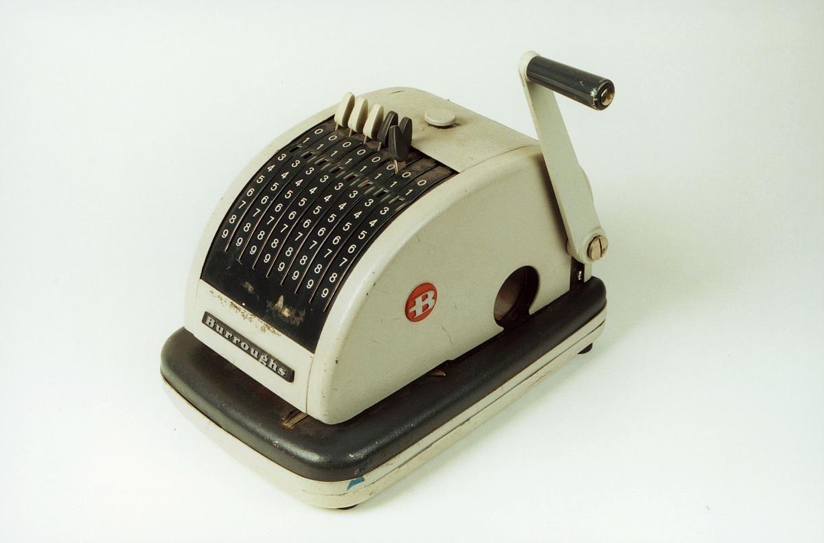 Postmuseet, gjenstander, sikringsmaskin, Burroughs T60 P3602.