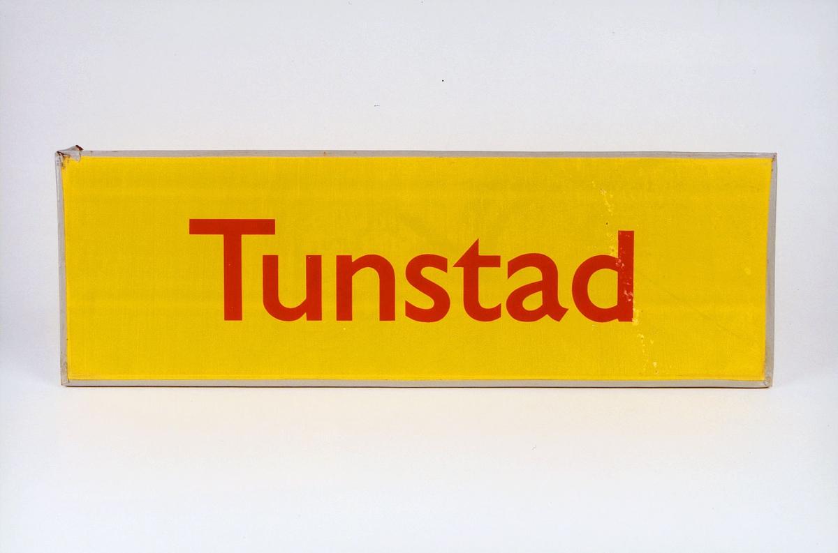 Postmuseet, gjenstander, skilt, stedskilt, stedsnavn, Tunstad.