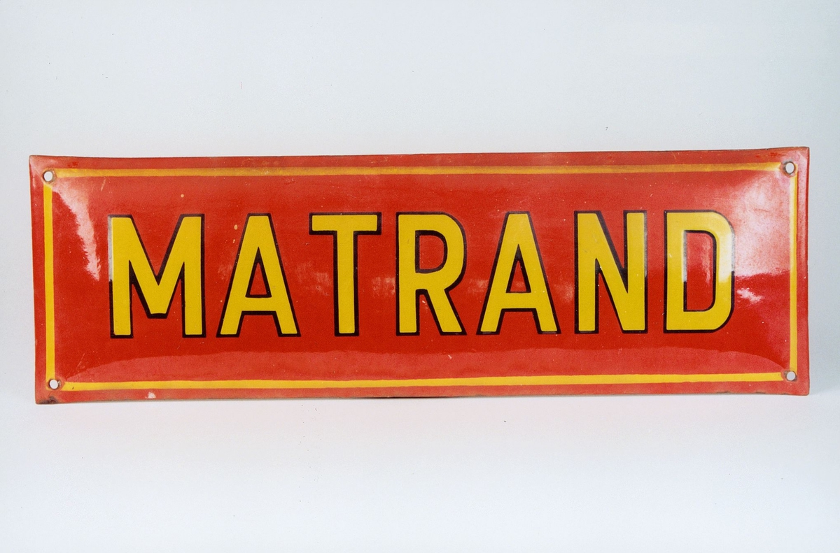 Postmuseet, gjenstander, skilt, stedskilt, stedsnavn, 2215 Matrand.
