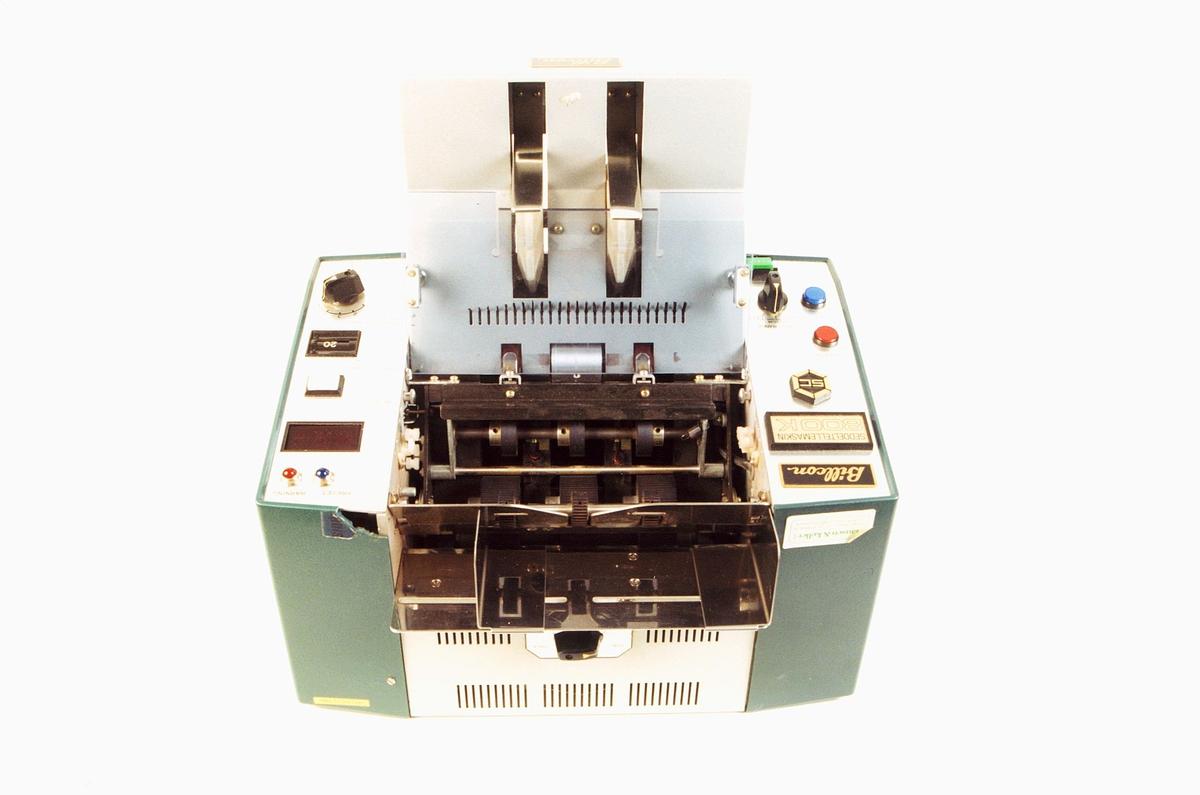postmuseet, gjenstander, seddeltellemaskin, Billcon 800K