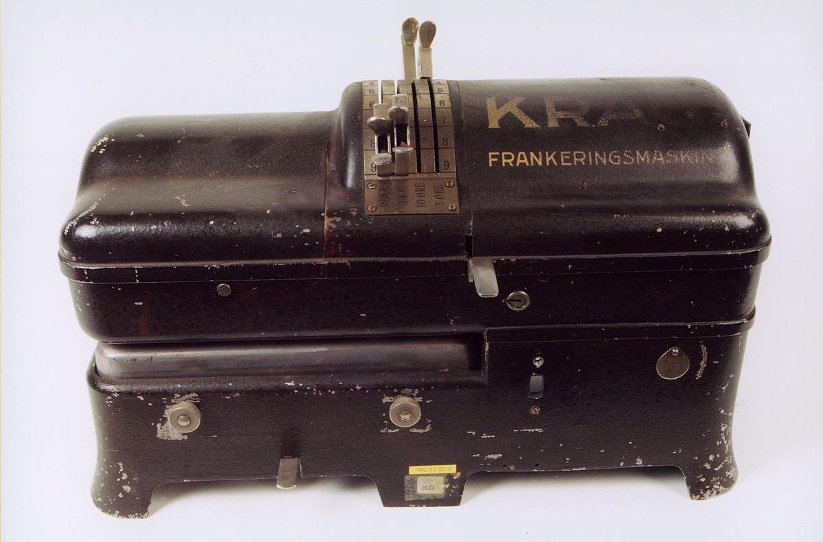 postmuseet, gjenstander, maskin, frankeringsmaskin, Krag