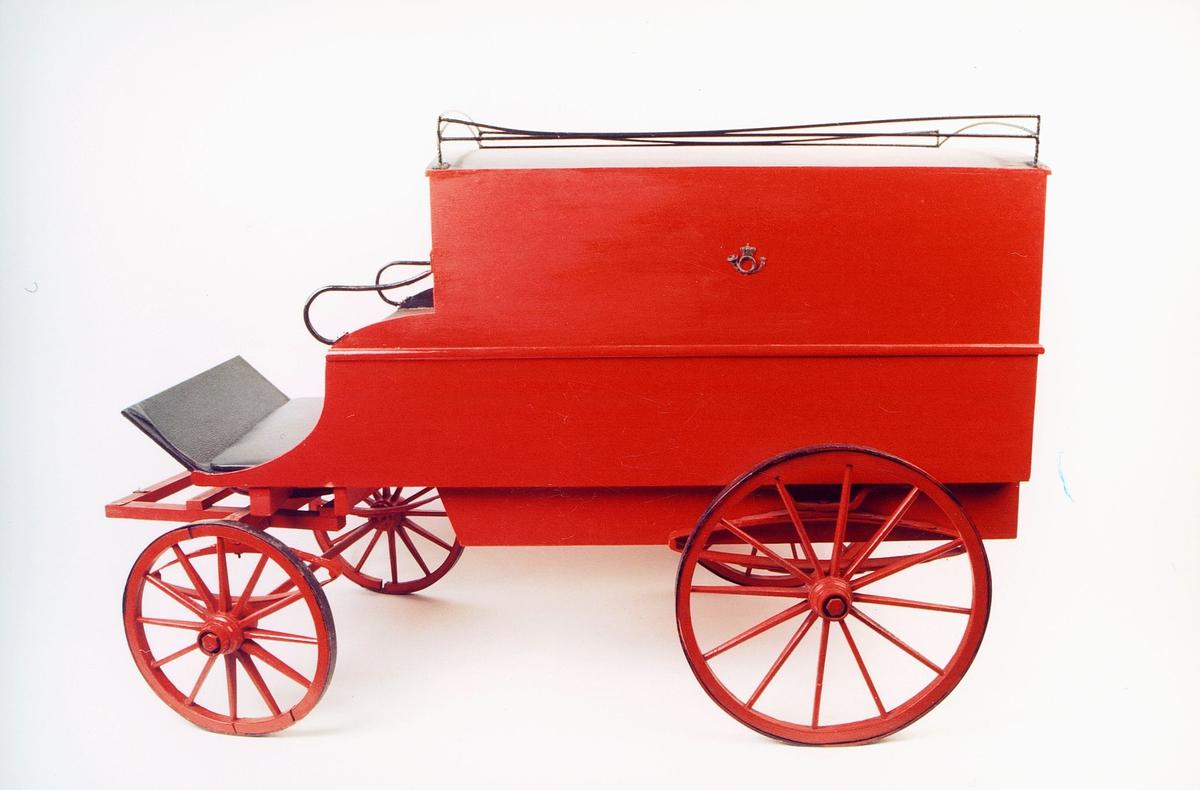postmuseet, gjenstand, modell av en postvogn