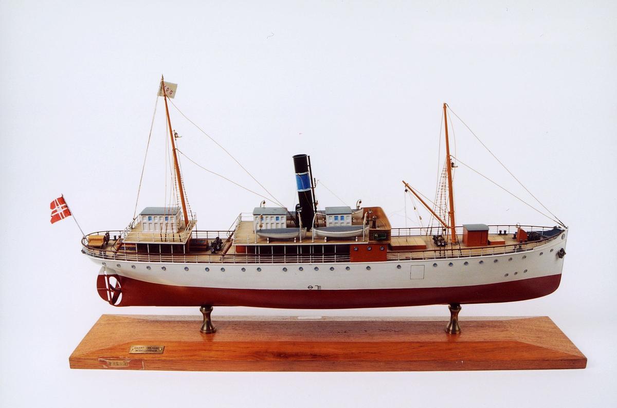 """postmuseet, gjenstander, modell av båt, """"Vesteraalen"""""""