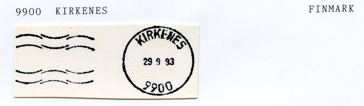 Stempelkatalog 9900 Kirkenes, Finnmark (Nyborgmoen feltpostkontor, Kirkenes)