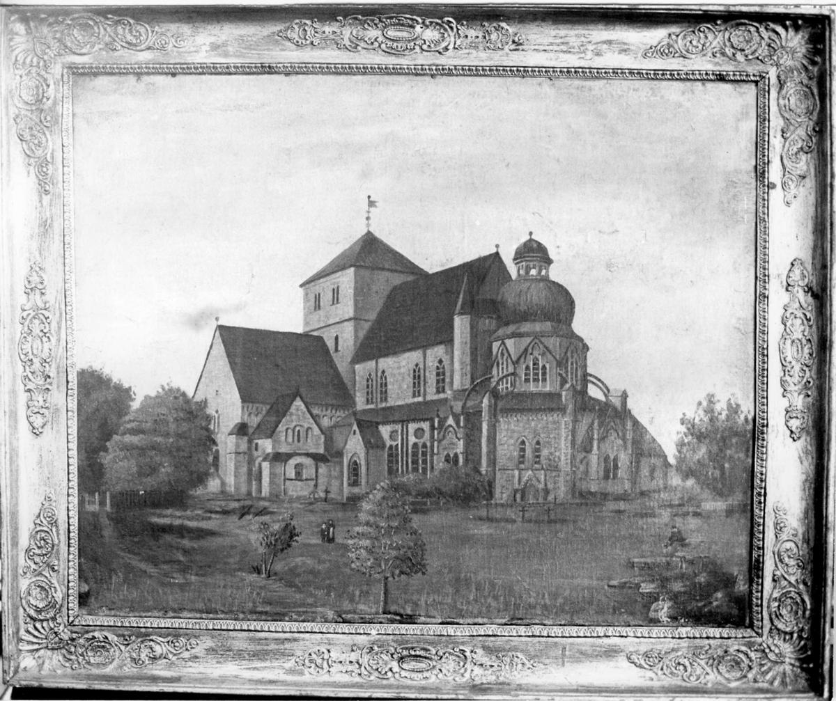 Maleri, kirke, domkirken i Trondheim