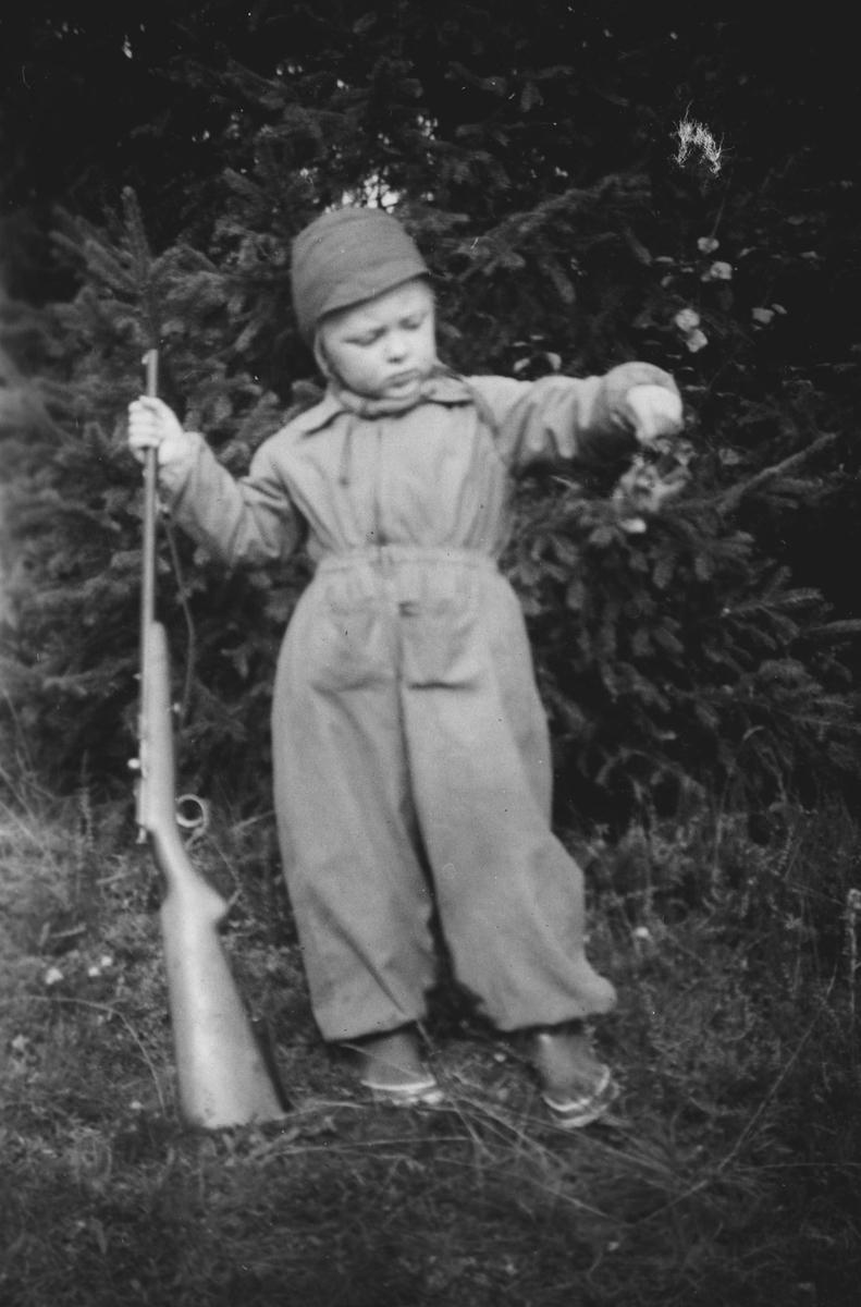 Geir Sjøli med gevær
