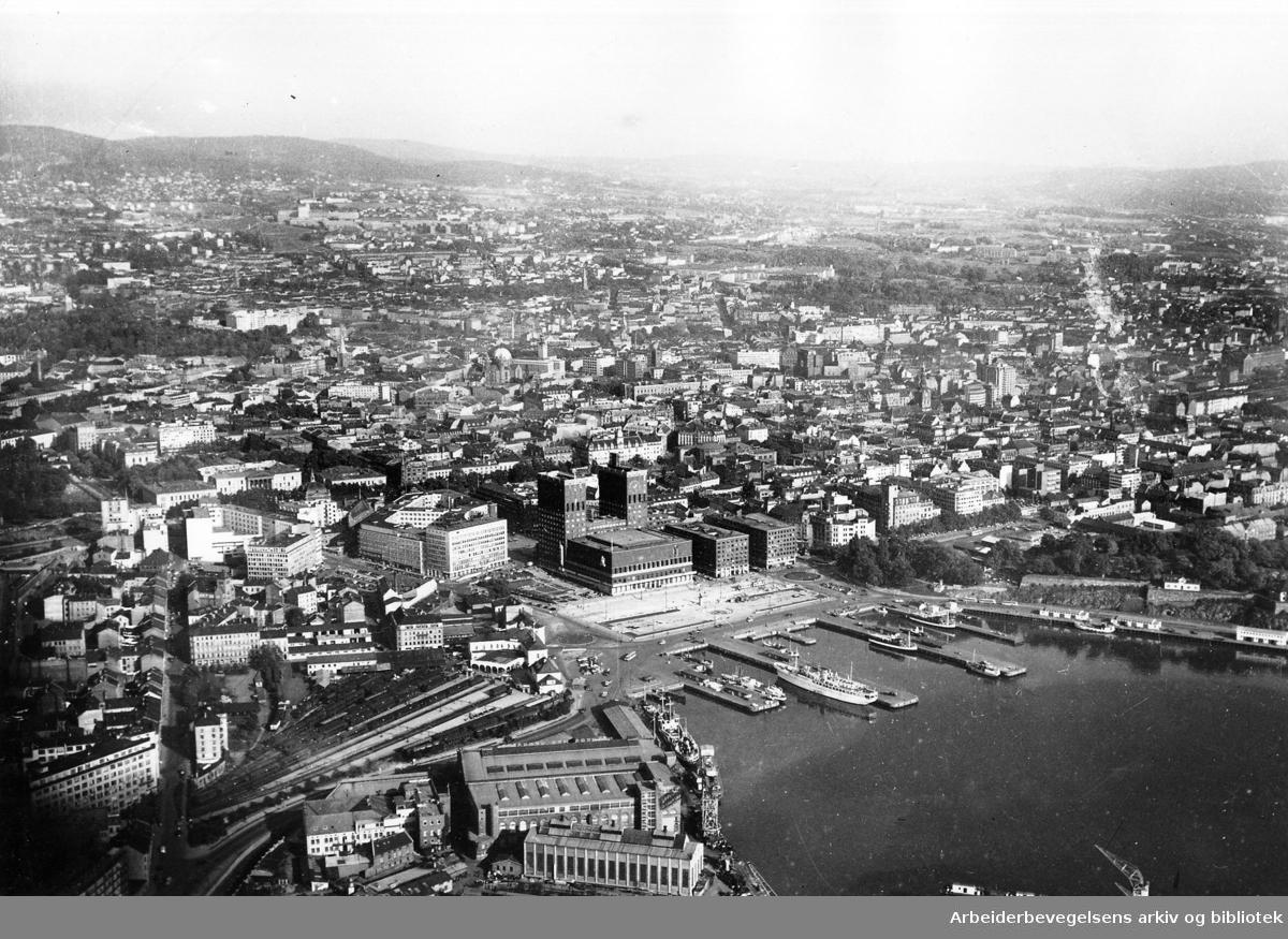 Flyfoto over Vika,.1956