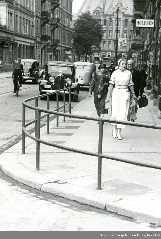 Frognerveien sett fra Solli plass,.juli 1938