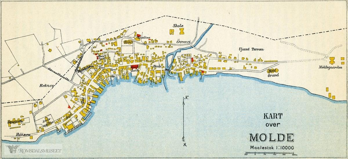 kart molde Kart over Molde by. mellom 1910 1940.   Romsdalsmuseet  kart molde