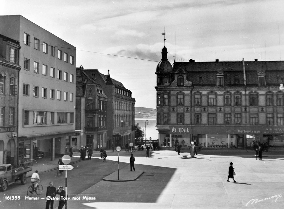 ØSTRE TORG/VANGSVEGEN, ASTORIA HOTELL, GODAGERGÅRDEN, GRANERUDGÅRDEN, FOLKELIV