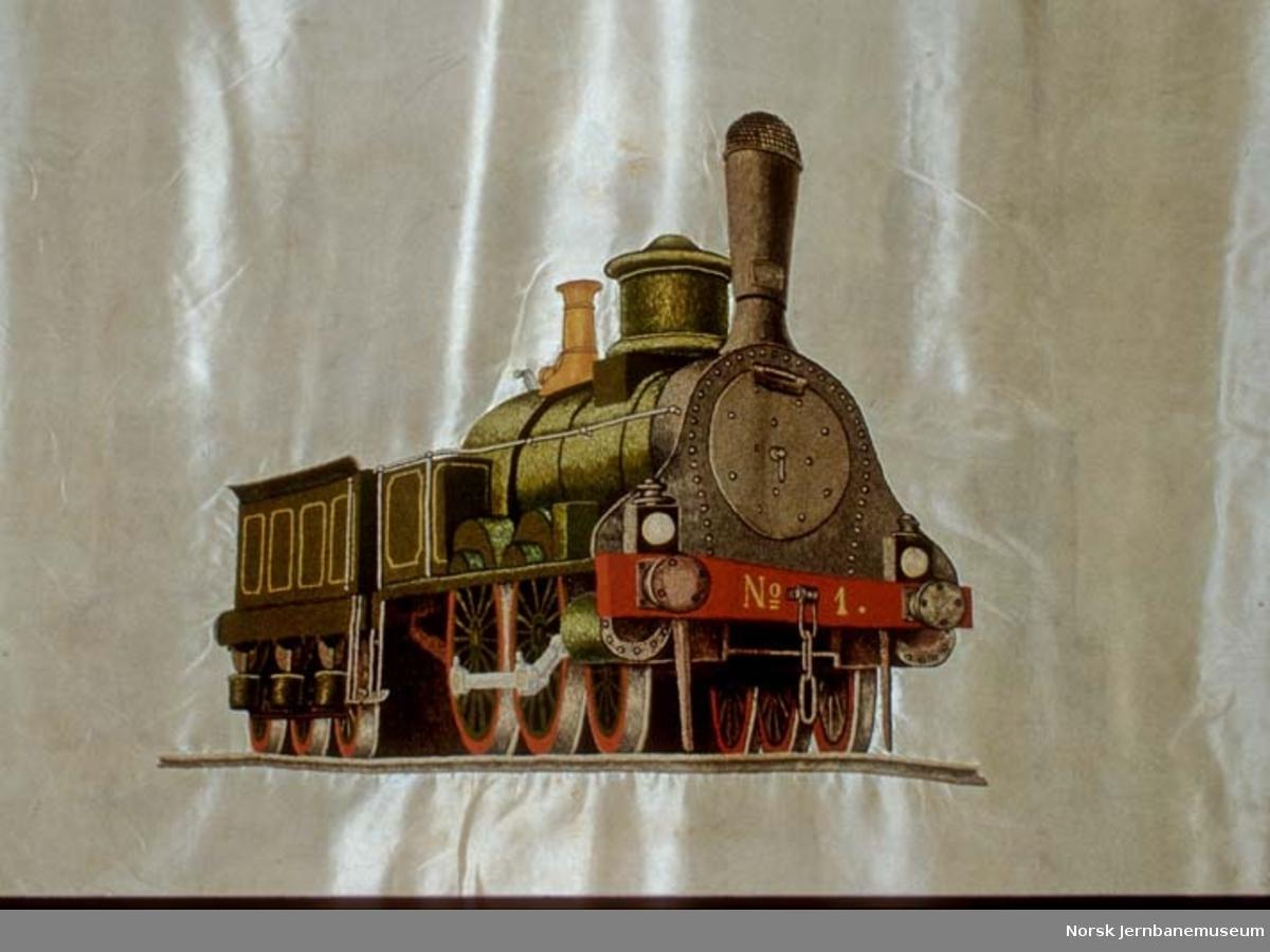 Fane : Hovedbanens lokomotivpersonales forening - gonfalon