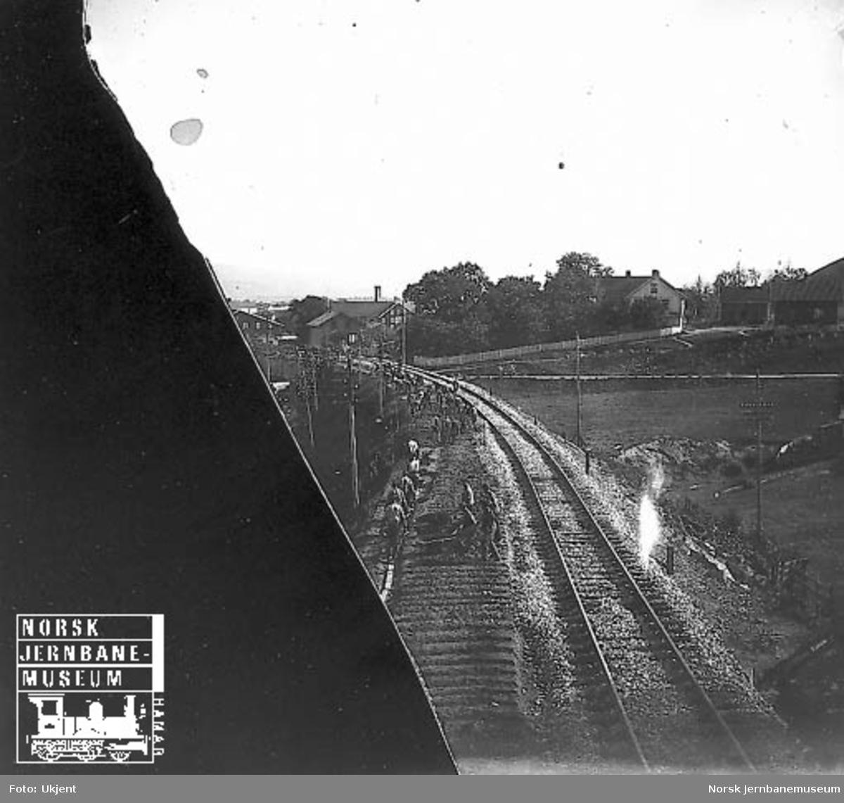 Planering for dobbeltsporet nær Lillestrøm