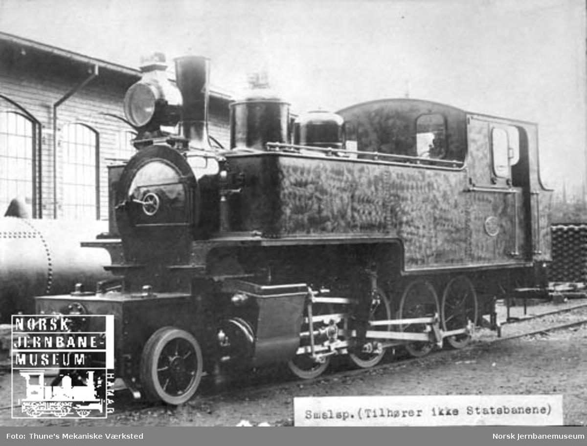 Leveransefoto av Holmestrand-Vittingfossbanens damplokomotiv nr. 4