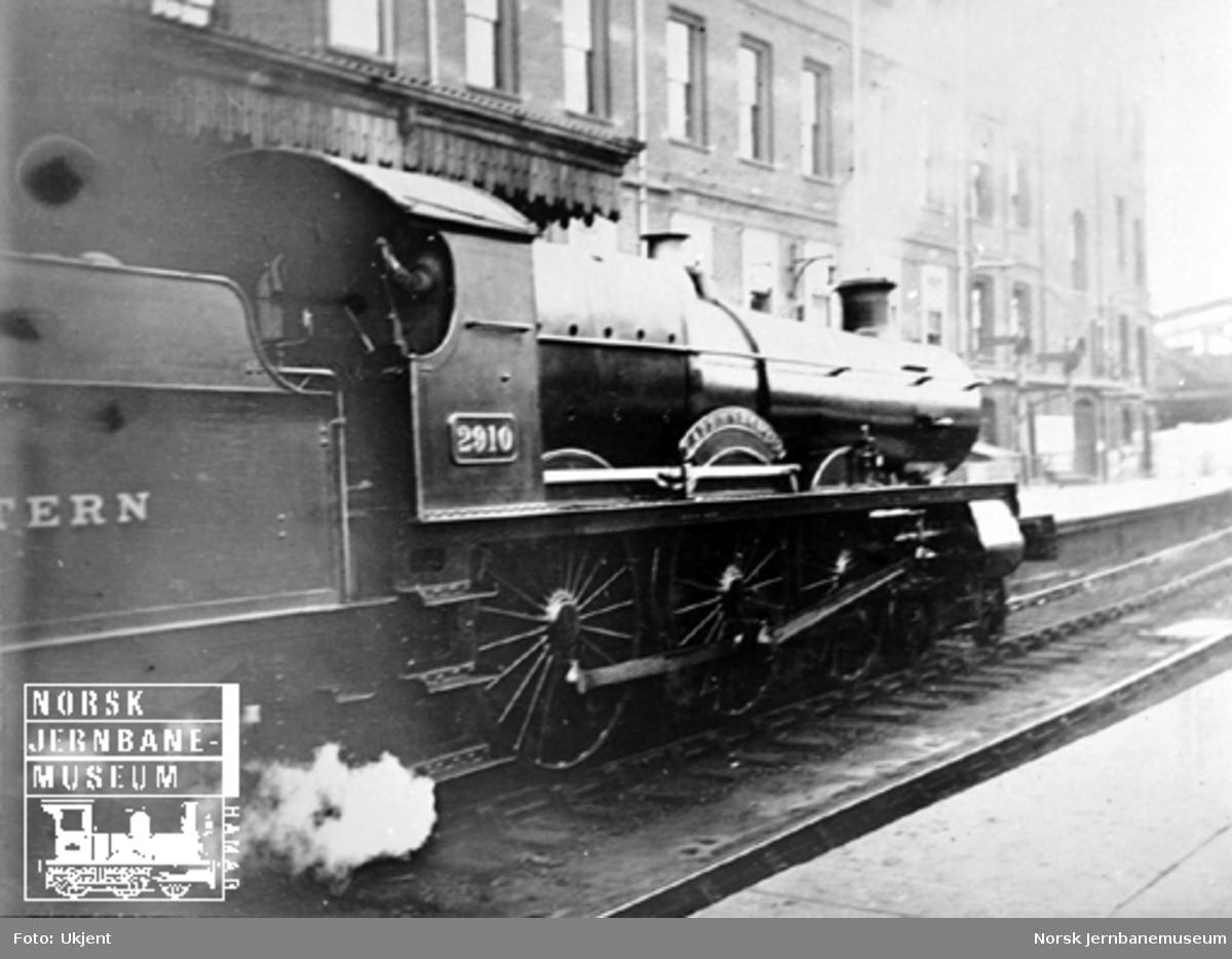 Britisk damplokomotiv Great Western Railway nr. 2910