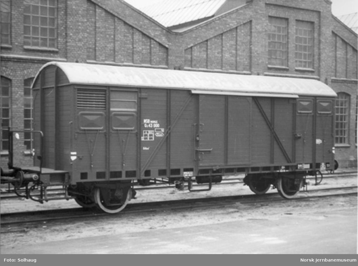 NSB lukket godsvogn litra G5 nr. 43000