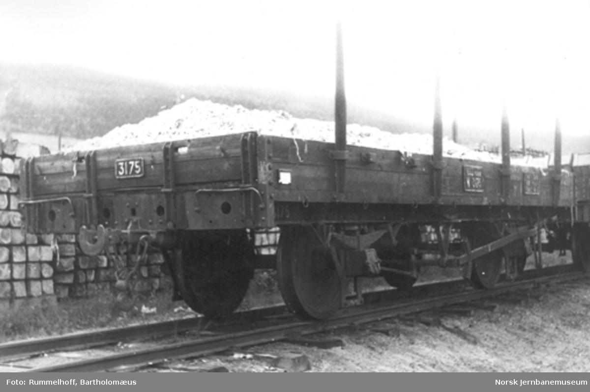 Smalsporet stakevogn litra N nr. 3175