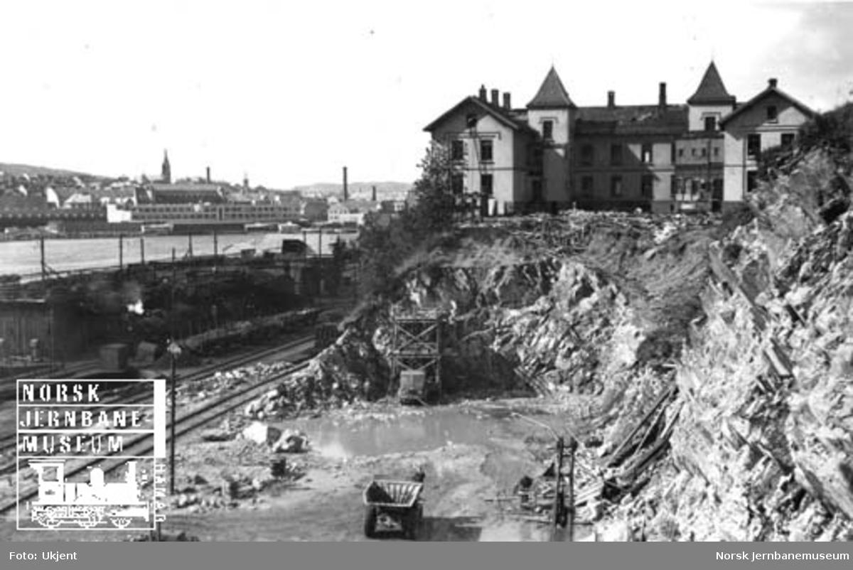 Bergen stasjons utvidelse : berget med Lundegården sykehjem