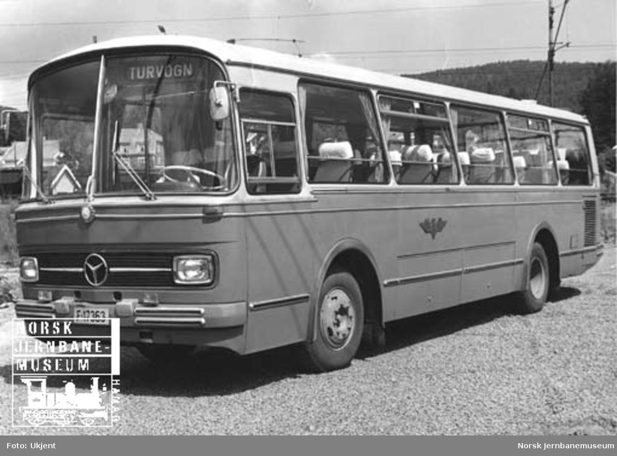 NSB Lågendalsrutens Mercedes-Benz-buss F-17363