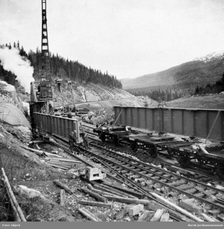 Trolldalen viadukt under bygging : alle spenn