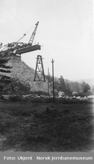 Rugånes viadukt under bygging