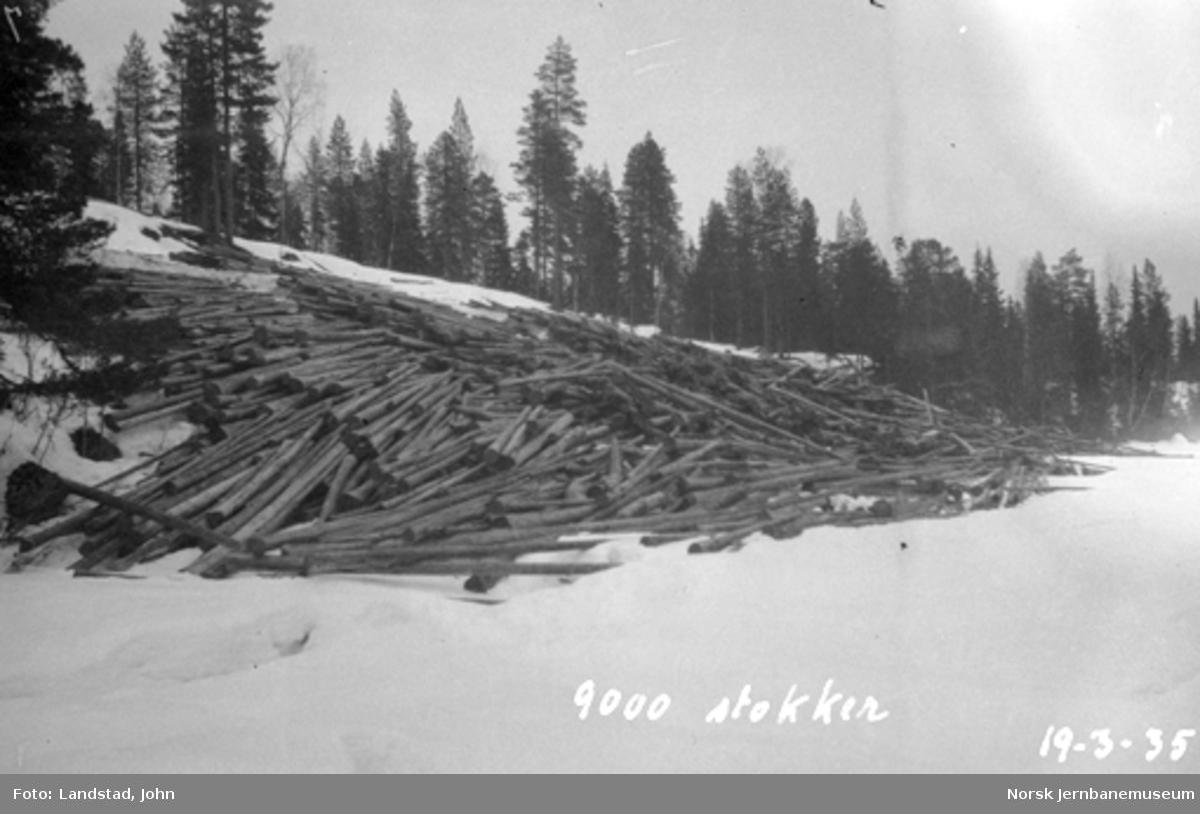 Tømmervelter (Brattbakvelten på 9000 stokker) i Hovda elv