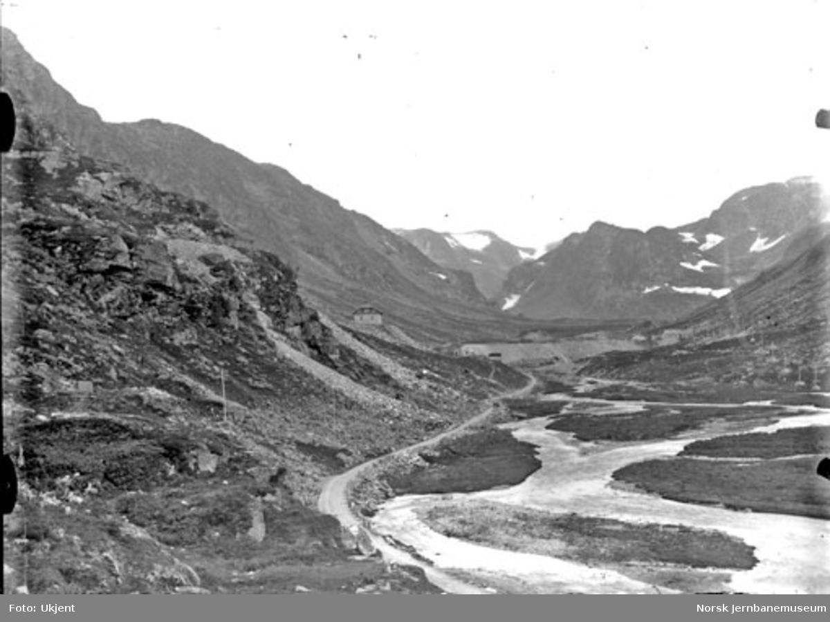 Parti fra Myrdal med stasjonsanlegget i bakgrunnen
