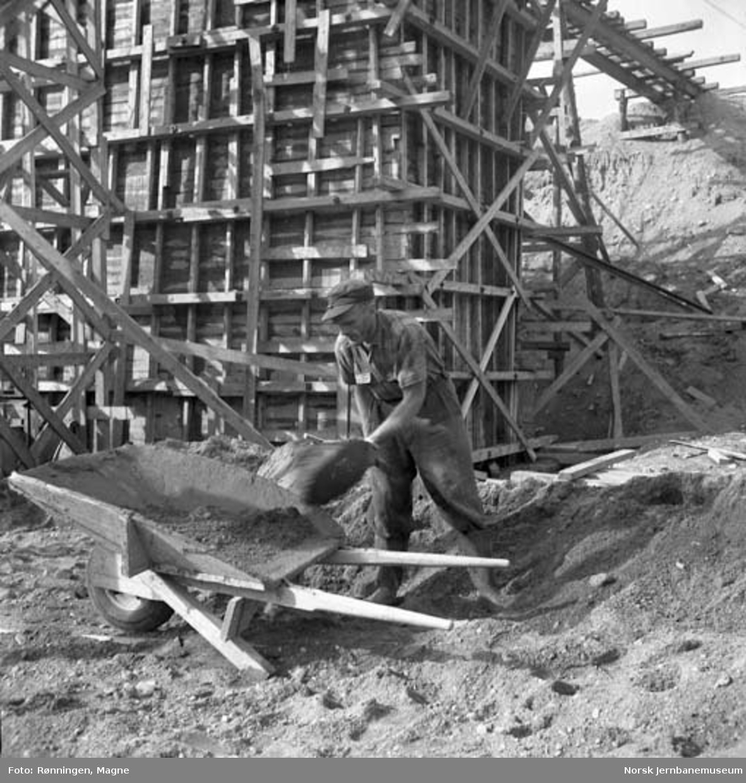 Bygging av Røkland (Saltdal) stasjon