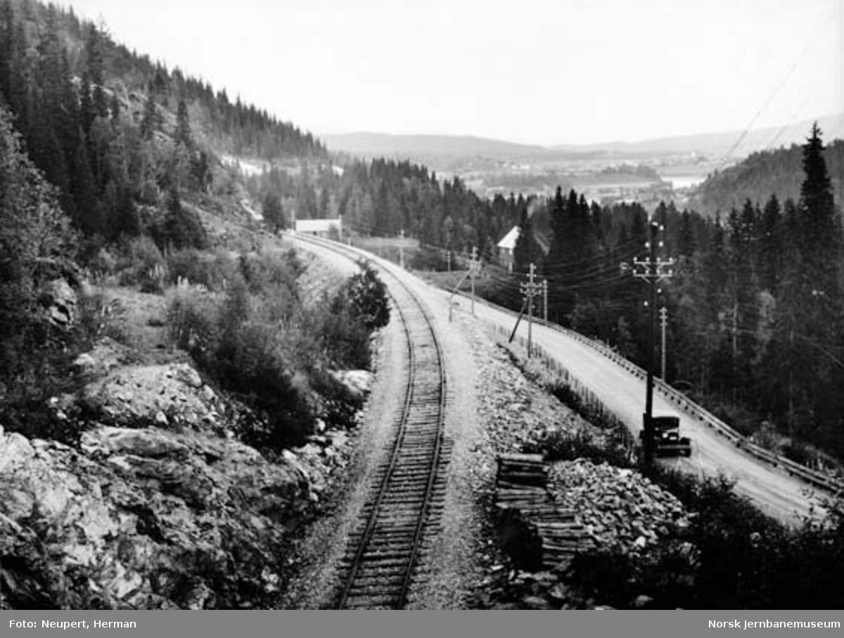 Nordlandsbanen ved Finnmyr tunnel sett nordover