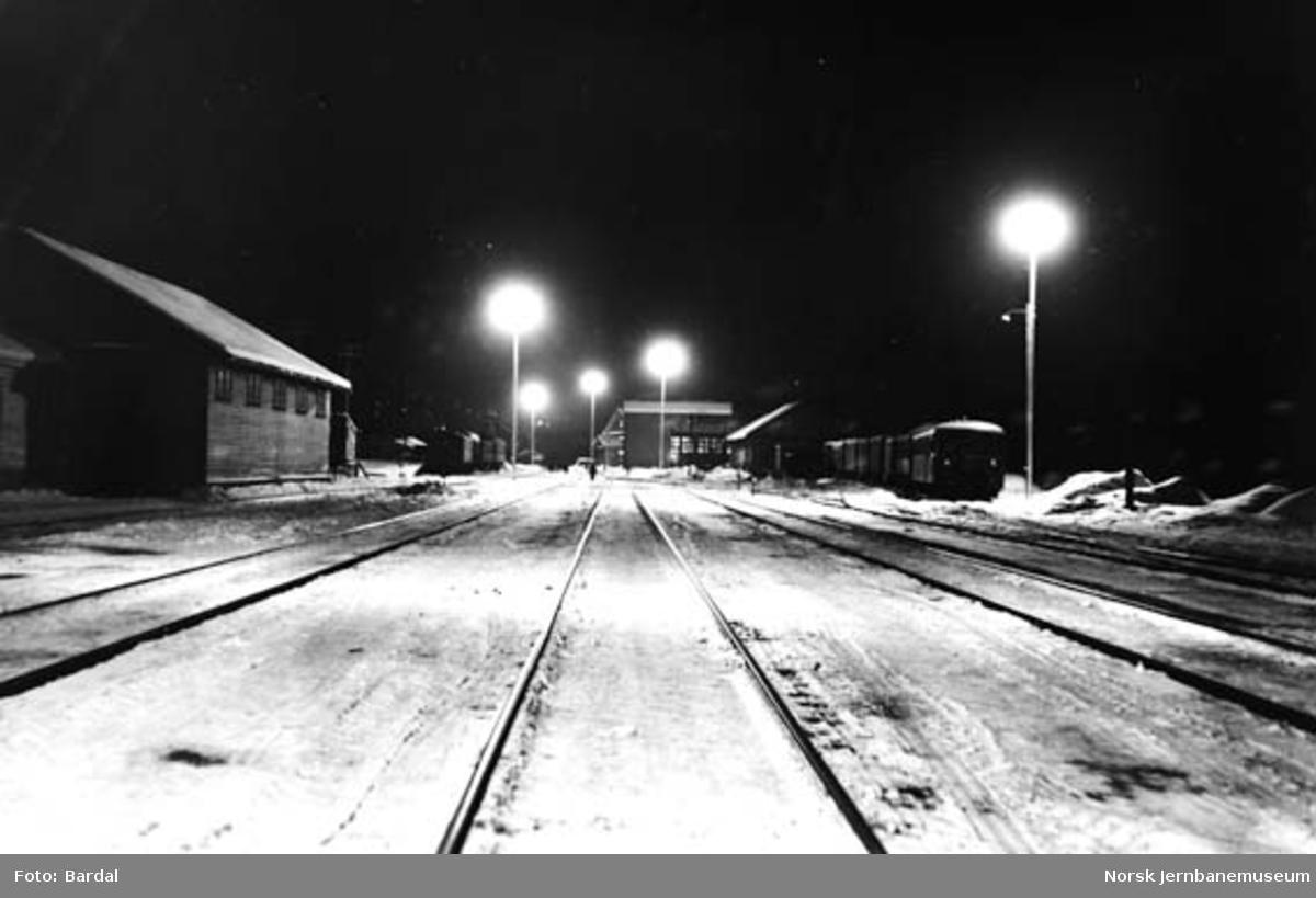 Steinkjer stasjon : ny tomtebelysning