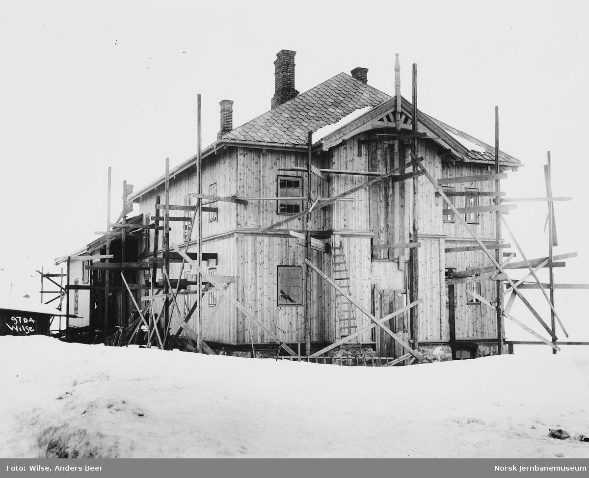 Haugastøl hotell under bygging