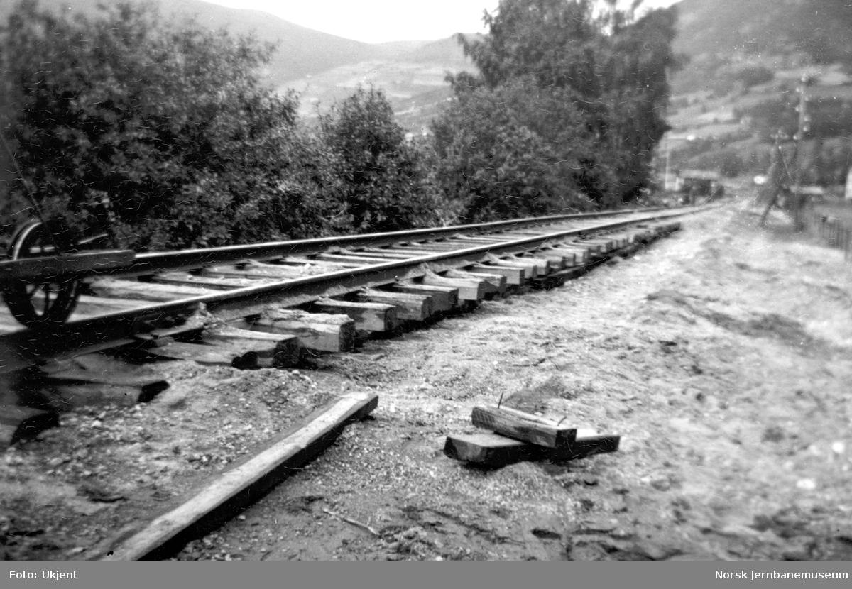 Flommen i 1938 : skader på linjen ca 1 km sør for Kvam