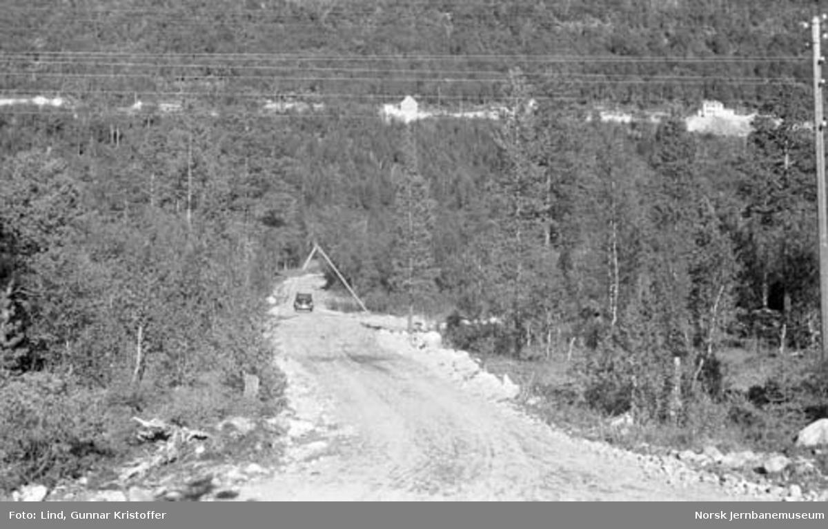 Nordlandsbaneanlegget : bygging av veg til Krokstrand kryssingsspor