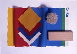 Stoffprøver på møbelstoff, gulv og gulvteppe til fornyelse a