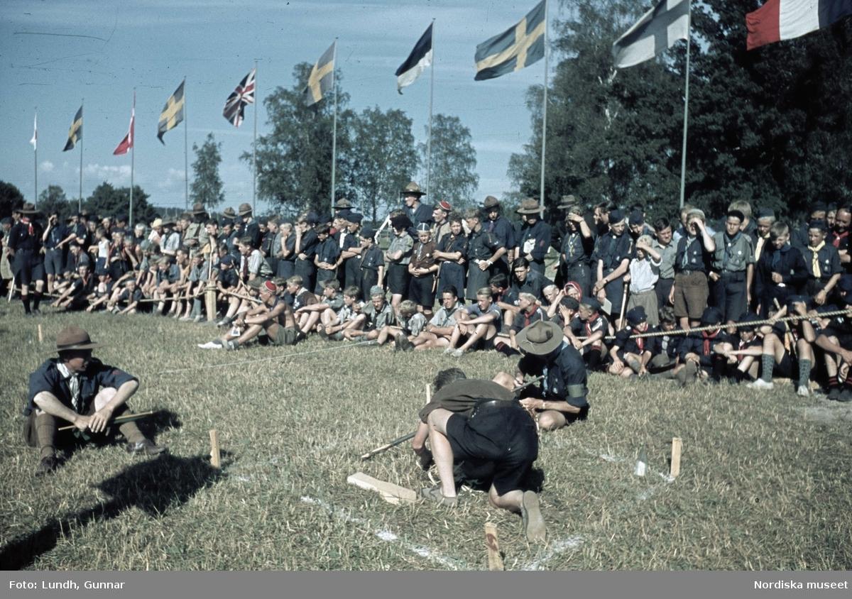 Scoutläger vid Tullgarn.