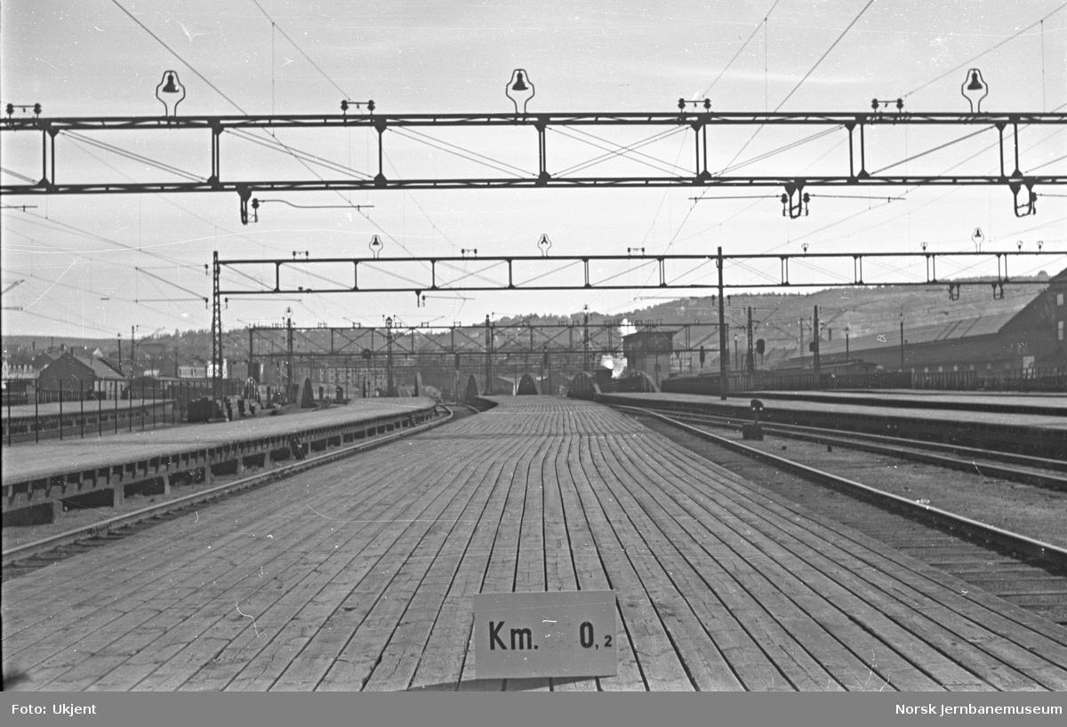 Hovedbanen : linjeføring km 0,2