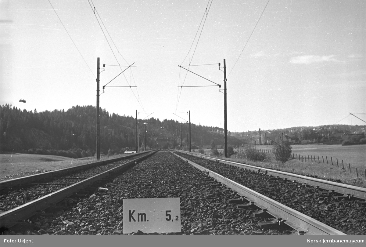 Hovedbanen : linjeføring km 5,2