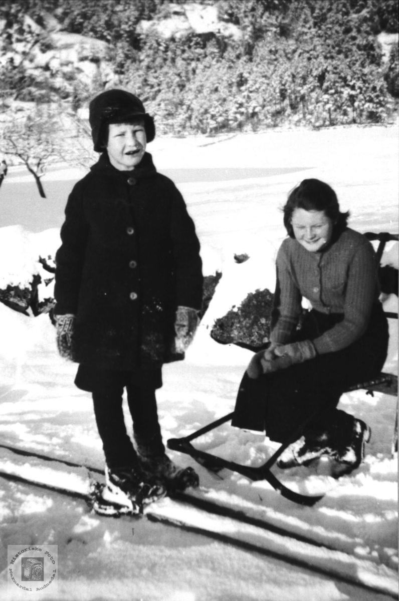 Portrett. Kåre Steinsland og Johanna, f. Steinsland.