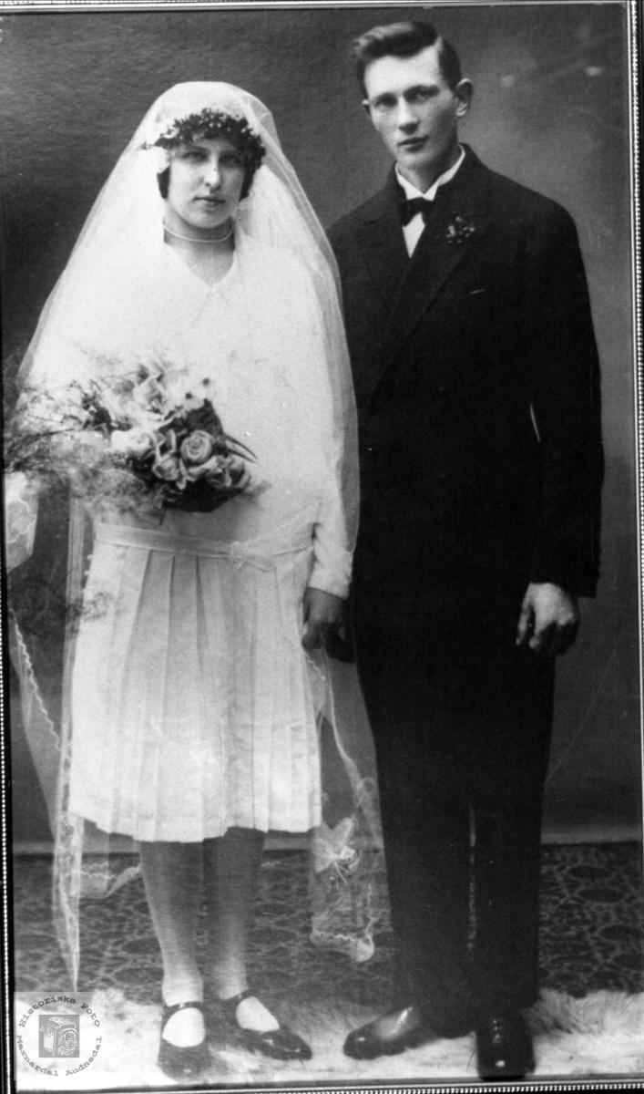 Ekteparet Amanda og Rudolf Roland, Bjelland.