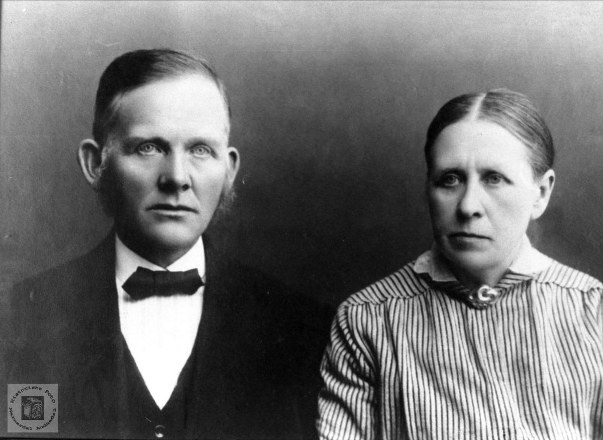 Ekteparet Ola og Torine Imeland.