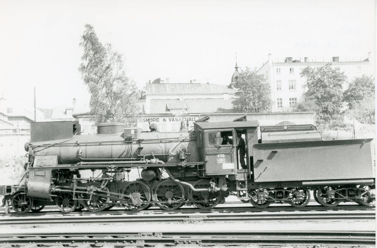 Damplok type 26c nr. 436 ved kulldeponiet i Lodalen i Oslo.