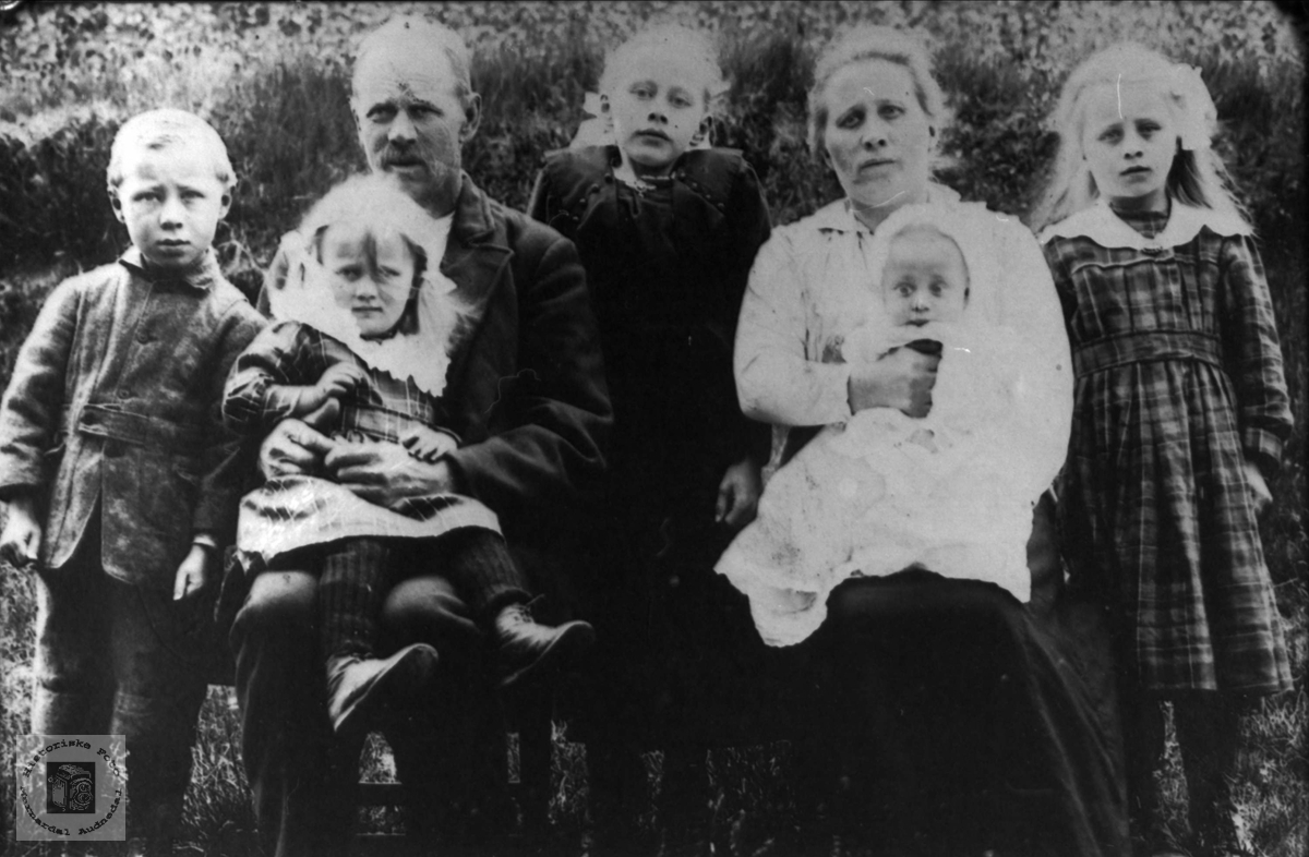 Familiegruppe Vassbotn med slektninger på Øyselbø.