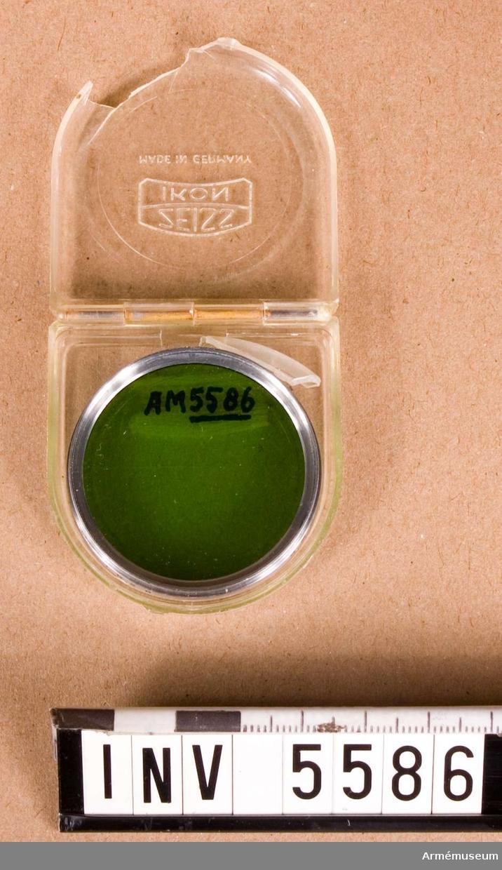 Objektivfilter 323/50 GR 50. Grönt. I fodral av plast.