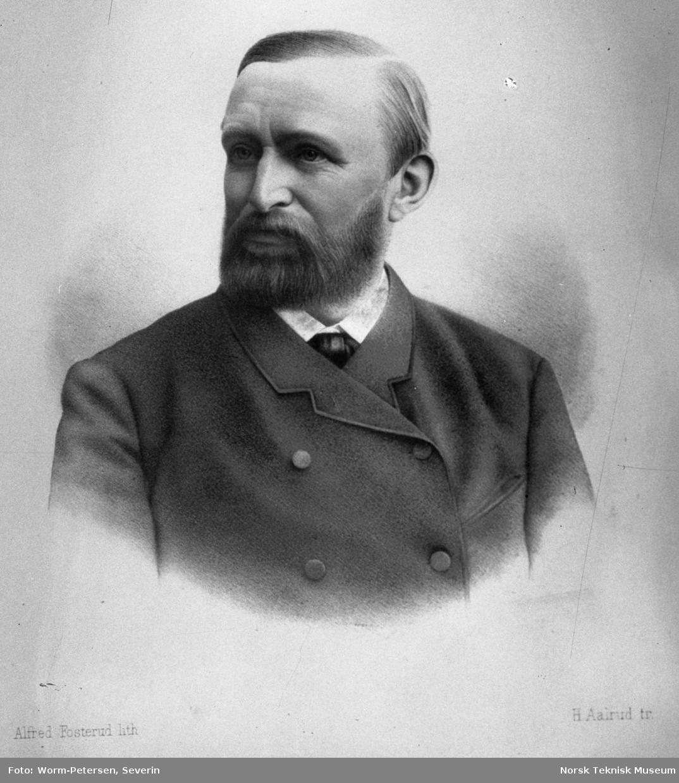 Portrett av norsk lege etter lith. av Alfred Fosterud