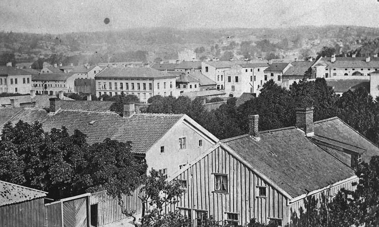 Stadsvy Uddevalla 1860-talet